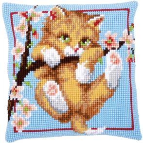 "Vervaco  Needlepoint Cushion Top Kit 16""X16"" - Hanging Around"