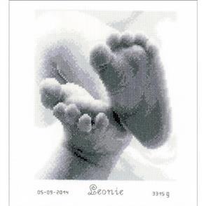 Vervaco  Birth Record Cross Stitch Kit: Baby Feet