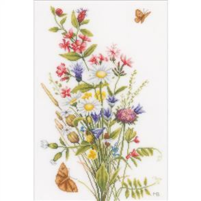 Lanarte  Counted Cross Stitch Kit - Field Flowers
