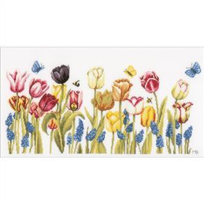 Lanarte  Counted Cross Stitch Kit - Tulips