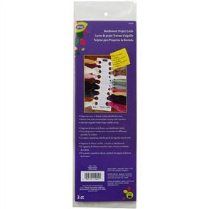 "LoRan  Needlework Project Cards  -11"" x 2.75"" 3/pkg"