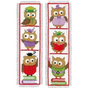 Vervaco  Cross Stitch Kit - Clever Owls Bookmarks