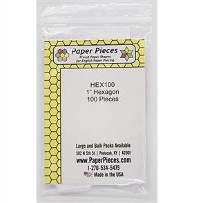 """PaperPieces  Paper Pieces - 1"""" Hexagon Pre-Cut Paper Pieces 100/pk"""