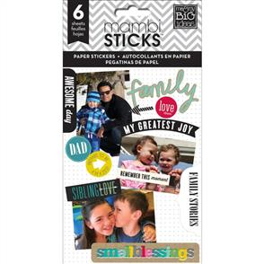 Me & My Big Ideas  Family Love - Paper Stickers - 6 Sheets