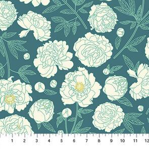 Figo Fabrics - Fabric - Primavera by  - Blue - 90314-65