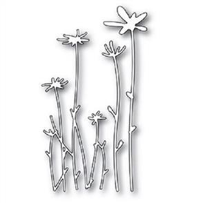 Poppystamps  Die - Tall Sketch Daisies
