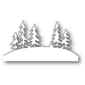 Poppystamps  Die - Tree Line Hill