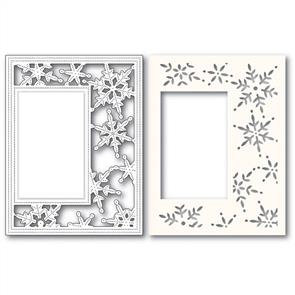 Poppystamps  Die - Pinpoint Snowflake Sidekick Frame