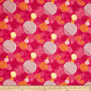 Paintbrush Studio  On Your Mark - Abstract Dots Raspberry