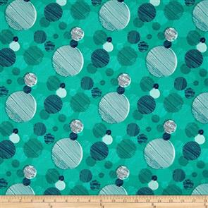 Paintbrush Studio  On Your Mark - Abstract Dots Teal