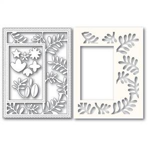 Poppystamps  Fun Floral Frame and Stencil