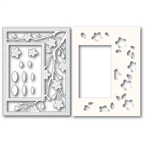 Poppystamps  Blooming Branches Frame and Stencils