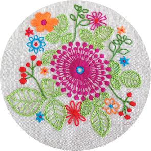 The Stitchsmith Purple Pinwheel Embroidery Kit