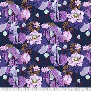 Free Spirit Anna Maria Horner Fabrics - Lotus Prussian
