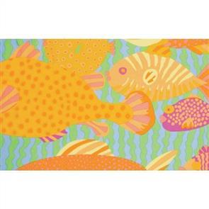 Free Spirit Kaffe Fassett Fabric - Gone Fishing Pastel