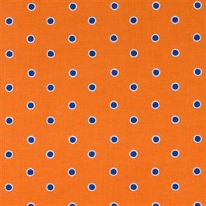Free Spirit  Fox Playground Fabric - Dots Orange