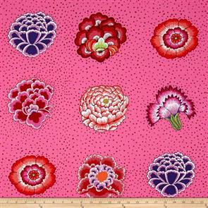 Free Spirit Kaffe Fassett Fabric - Corsage Pink