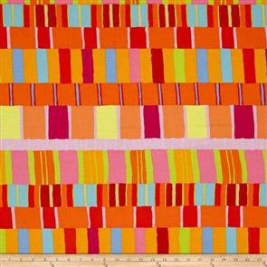 Free Spirit Kaffe Fassett Fabric - Layered Stripe Orange
