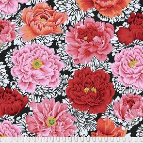 Free Spirit Kaffe Fassett Fabric - Brocade Peony Crimson