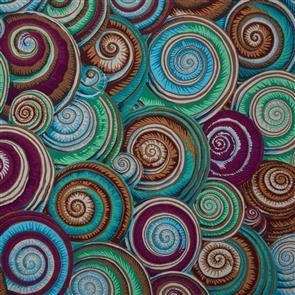Free Spirit Kaffe Fassett Fabric - Spiral Shells Antique