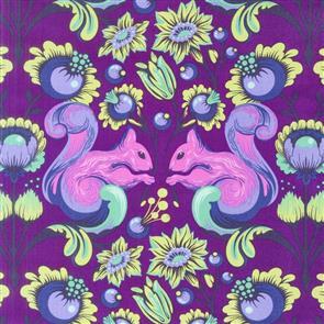 Free Spirit Tula Pink - All Stars - Squirrel Foxglove