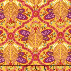 Free Spirit Tula Pink Fabric - All Stars - Bee Marigold