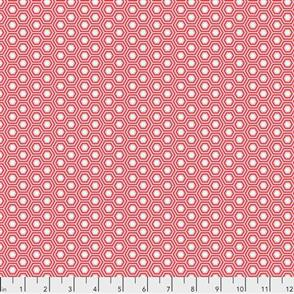 Free Spirit Tula Pink Fabric - True Colours - Hexy Flamingo