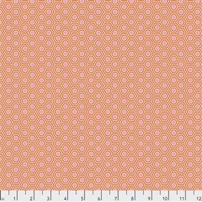 Free Spirit Tula Pink Fabric - True Colors - Hexy Peach Blossom