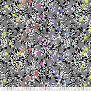 Free Spirit Tula Pink Linework - Lemur Me Alone - Ink