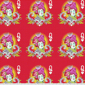Free Spirit Tula Pink Fabric - Curiouser and Curiouser Collection - The Red Queen - Wonder