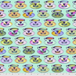 Free Spirit Tula Pink Fabric - Curiouser and Curiouser Collection - Tea Time - Daydream