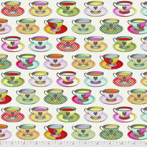 Free Spirit Tula Pink Fabric - Curiouser and Curiouser Collection - Tea Time - Sugar