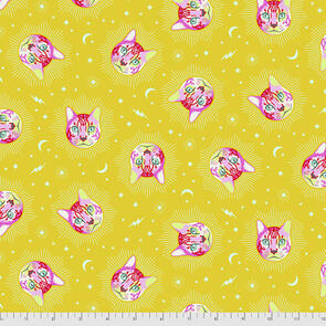 Free Spirit Tula Pink Fabric - Curiouser and Curiouser Collection - Cheshire - Wonder