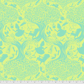 Free Spirit Tula Pink Fabric - Curiouser and Curiouser Collection - Down the Rabbit Hole - Bewilder