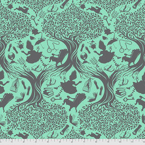 Free Spirit Tula Pink Fabric - Curiouser and Curiouser Collection - Down the Rabbit Hole - Daydream