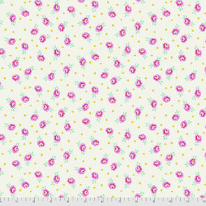 Free Spirit Tula Pink Fabric - Curiouser and Curiouser Collection - Baby Buds - Sugar