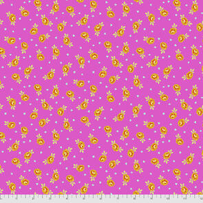 Free Spirit Tula Pink Fabric - Curiouser and Curiouser Collection - Baby Buds - Wonder