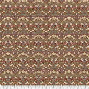 Free Spirit Morris William  Fabric - Kelmscott - Mini Strawberry Thief Red