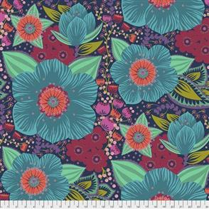 """Free Spirit  108"""" Wide Back - Hindsight Honorable Mention Turquoise"""