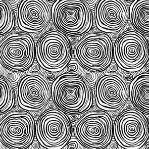 "Kaffe Fassett Collection - Onion Rings Wide Backs - 108"" (274cm) - QBBM0010 - Black"