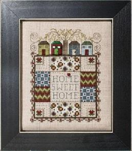MISC Quilted With Love 1 - Home Sweet Home - Cross Stitch Pattern