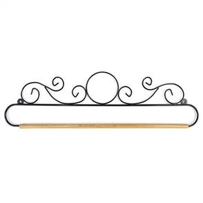 """Sew Easy Quilt Hanger - 18"""" Wire with Dowel - Black Circle"""