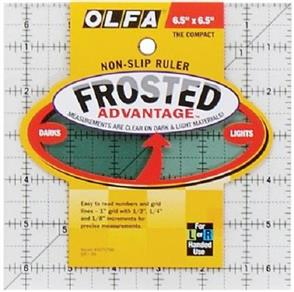 """OLFA  Frosted Non-Slip Ruler """"The Compact"""" - 6.5"""""""