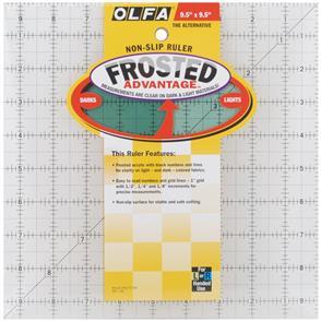 "OLFA  Frosted Non-Slip Ruler ""The Alternative"" - 9.5"""