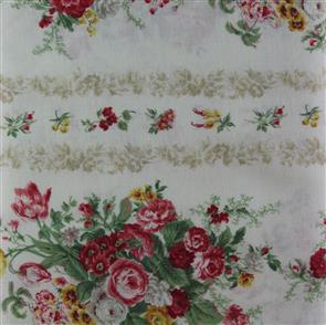 Quiltgate  Striped Florals - Cream