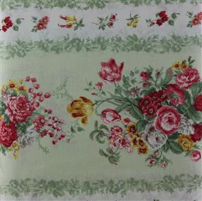 Quiltgate  Striped Florals - Green