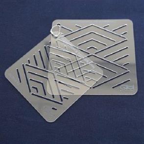 QH Textiles  Sashiko Stencil - Hishi-Seikiha