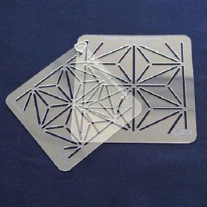 QH Textiles  Sashiko Stencil - Asano-Ha