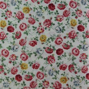 Quiltgate  Tossed Floral - 218013 Cream