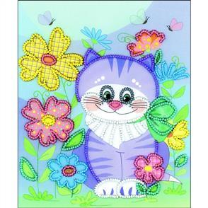 "Riolis  Beaded Embroidery Kit 6""X7"" - Kitten"